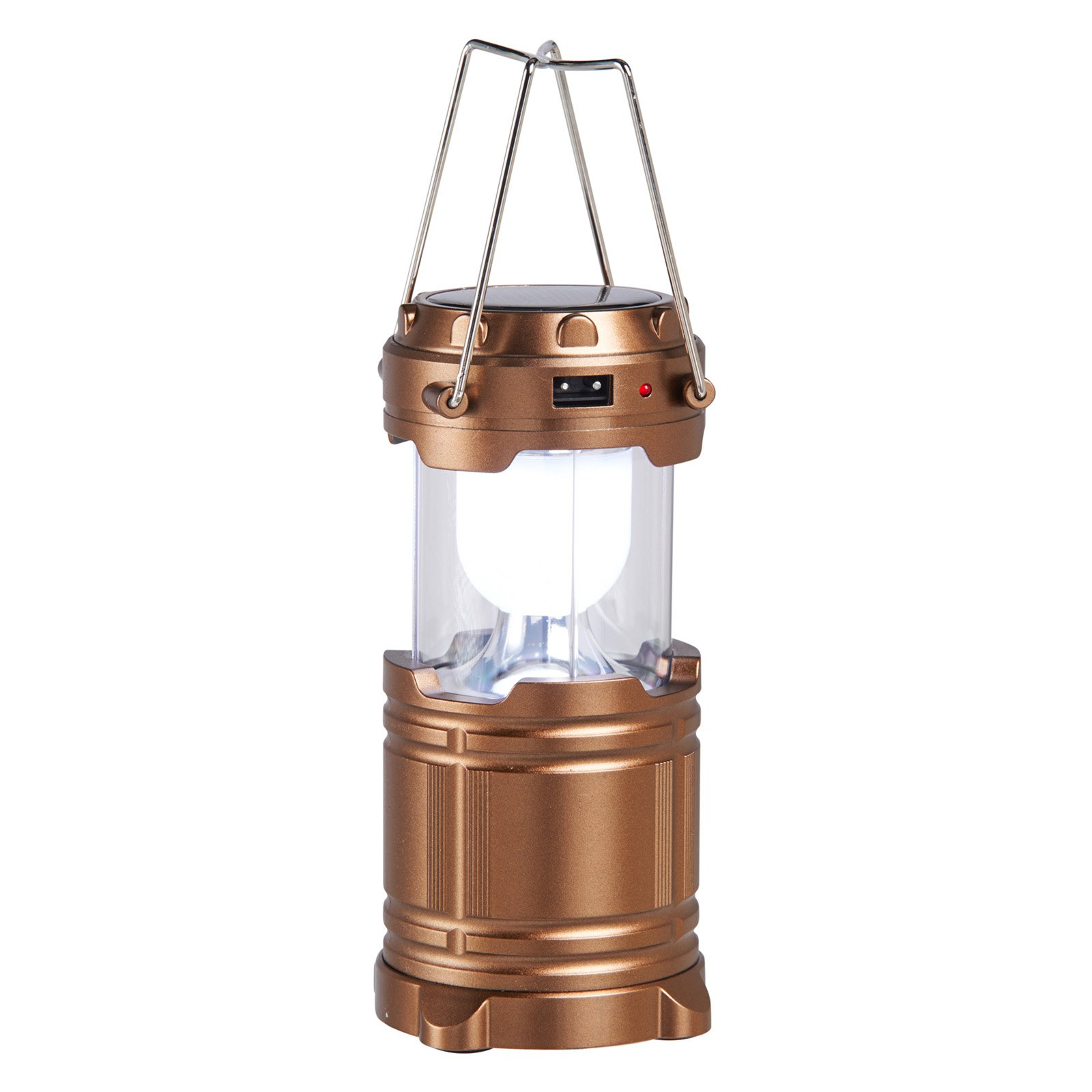 Led Camping Lantern Copper