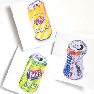 Scottish Fizzy Juice - Notecard trio - available from Owl & Brew www.owlandbrew.com