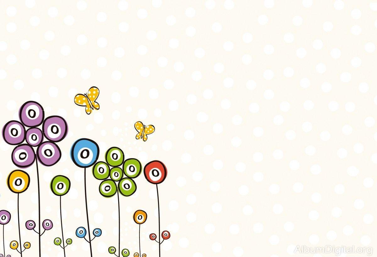 Dibujos De Mariposas Infantiles A Color: Flores Y Mariposas Infantiles A Color