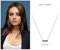mila kunis necklace