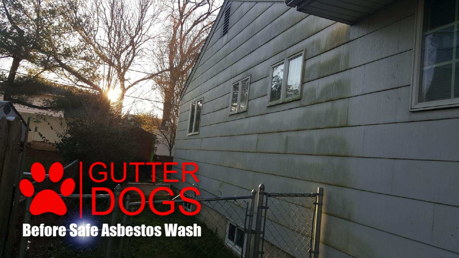 Asbestos house wash before House wash, Roof cleaning