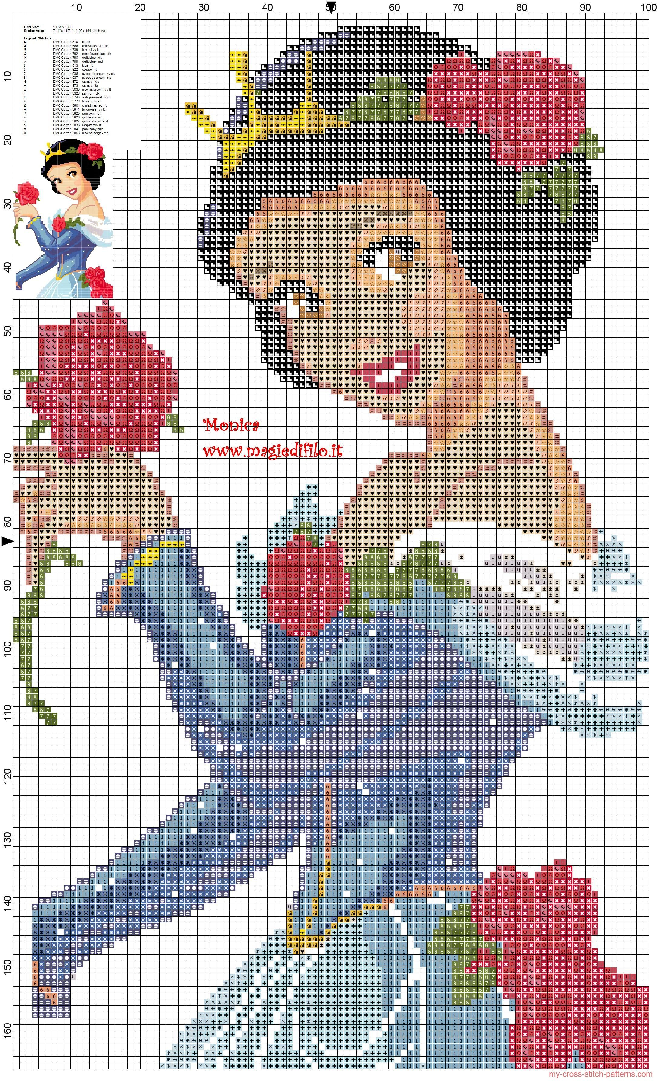 Princess Snow White cross stitch pattern | Cross stitch | Pinterest ...