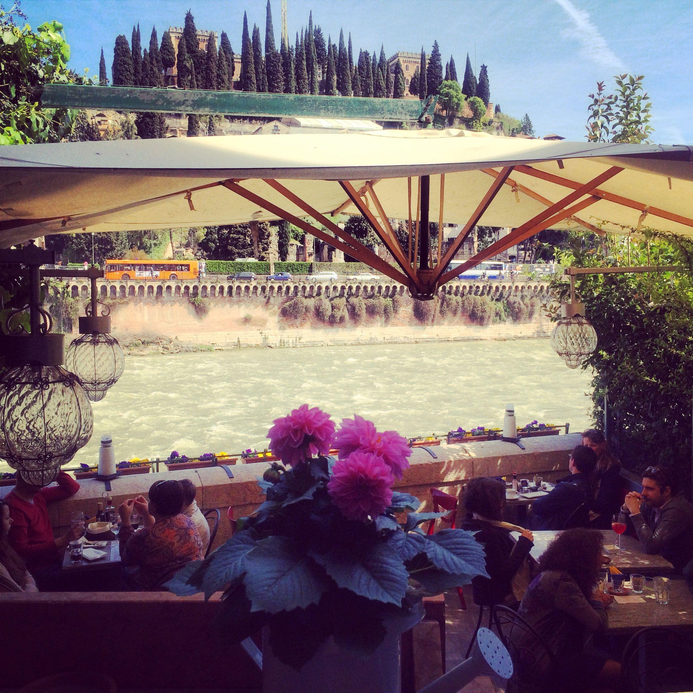 Terrazza Bar Al Ponte Verona With Amazing Terrace