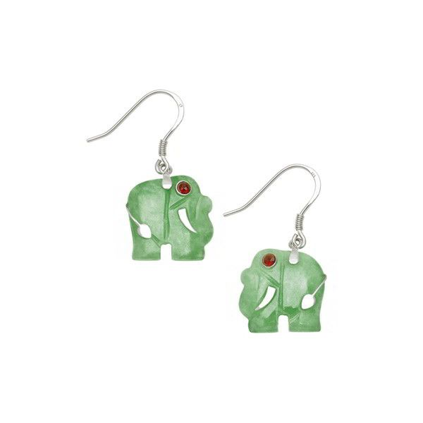 Jade Elephant Earrings 50 Liked On Polyvore Featuring Jewelry Red