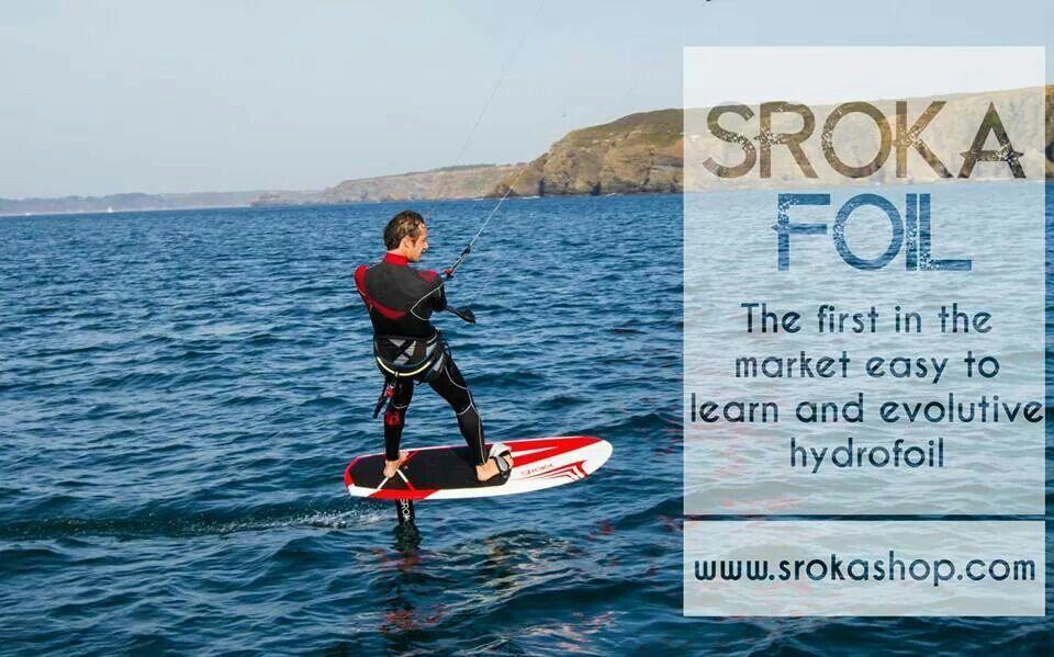 Sroka hydrofoil. The easiest kite hydrofoil to learn