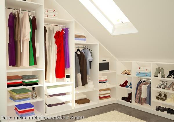Begehbarer Kleiderschrank unter dem Dach Kleiderschrank