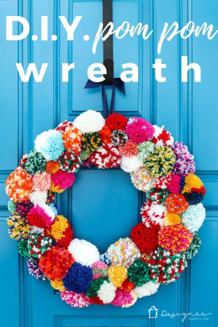 Photo of DIY pom pom wreath