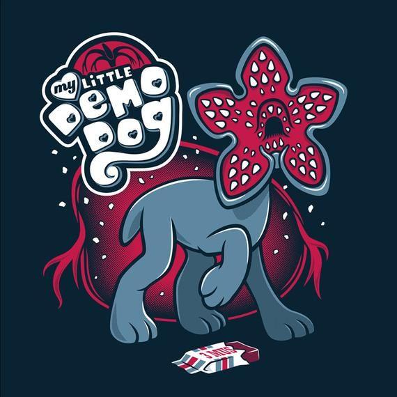 My Little Demodog - T-Shirt   Stranger Things T-Shirt   Cute T-shirt   Horror T-Shirt
