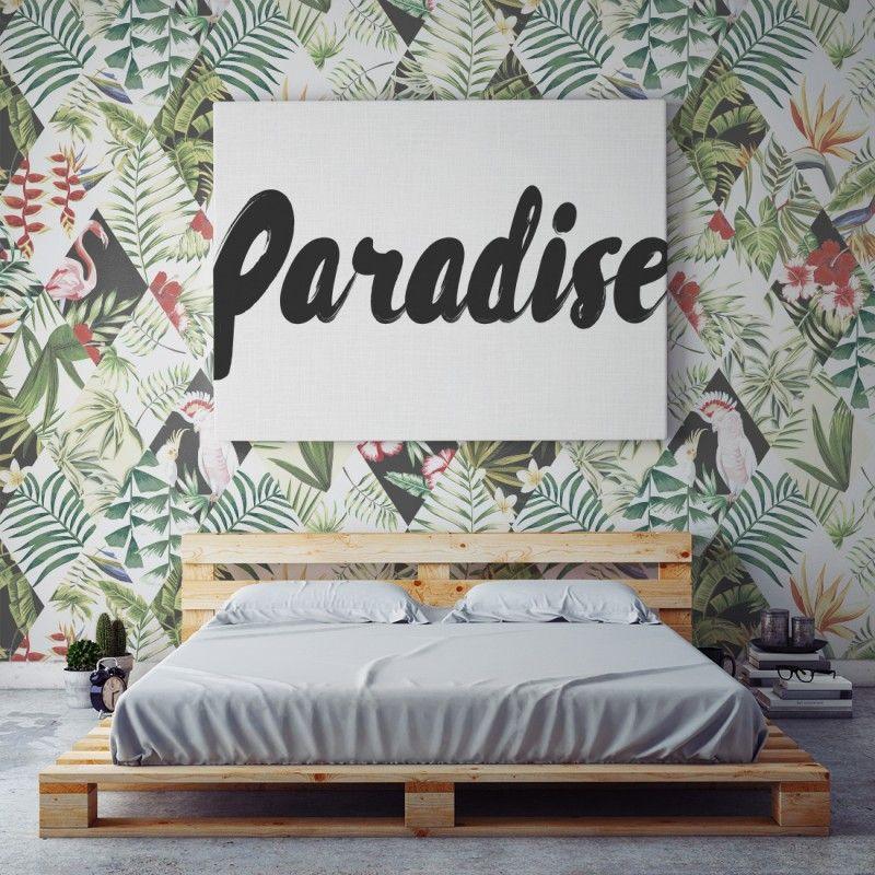 comprar papel pintado pared tropical online