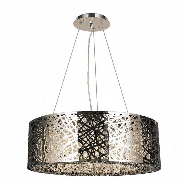 Aramis Collection 10 Led Light Chrome Finish And Clear Crystal