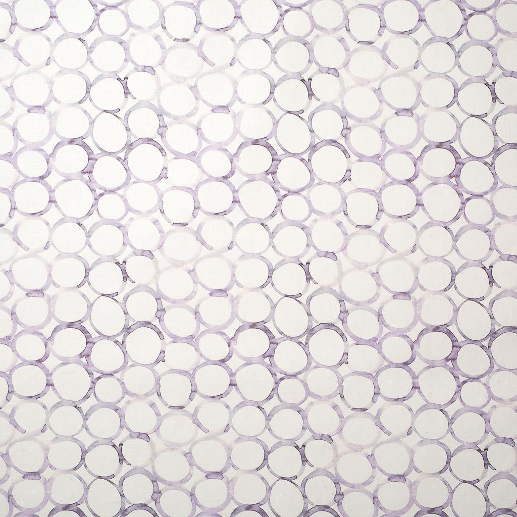 Interlocking Circles Fabric in Lilac