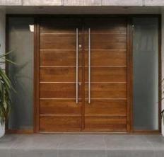 m puerta doble de madera