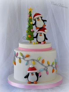 bolo de pinguins