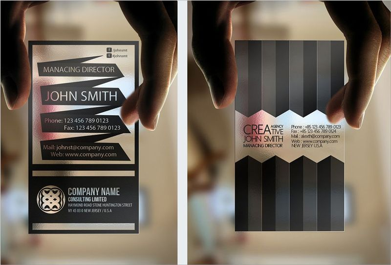 Transparent business card design branding business cards business card design 60 eye catching business card examples to inspire your own reheart Choice Image