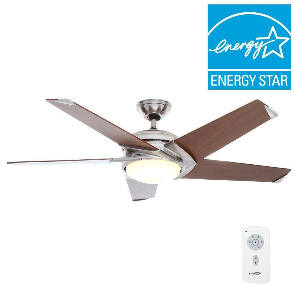 Casablanca Stealth Dc 54 In Indoor Brushed Nickel Led Ceiling Fan With Remote