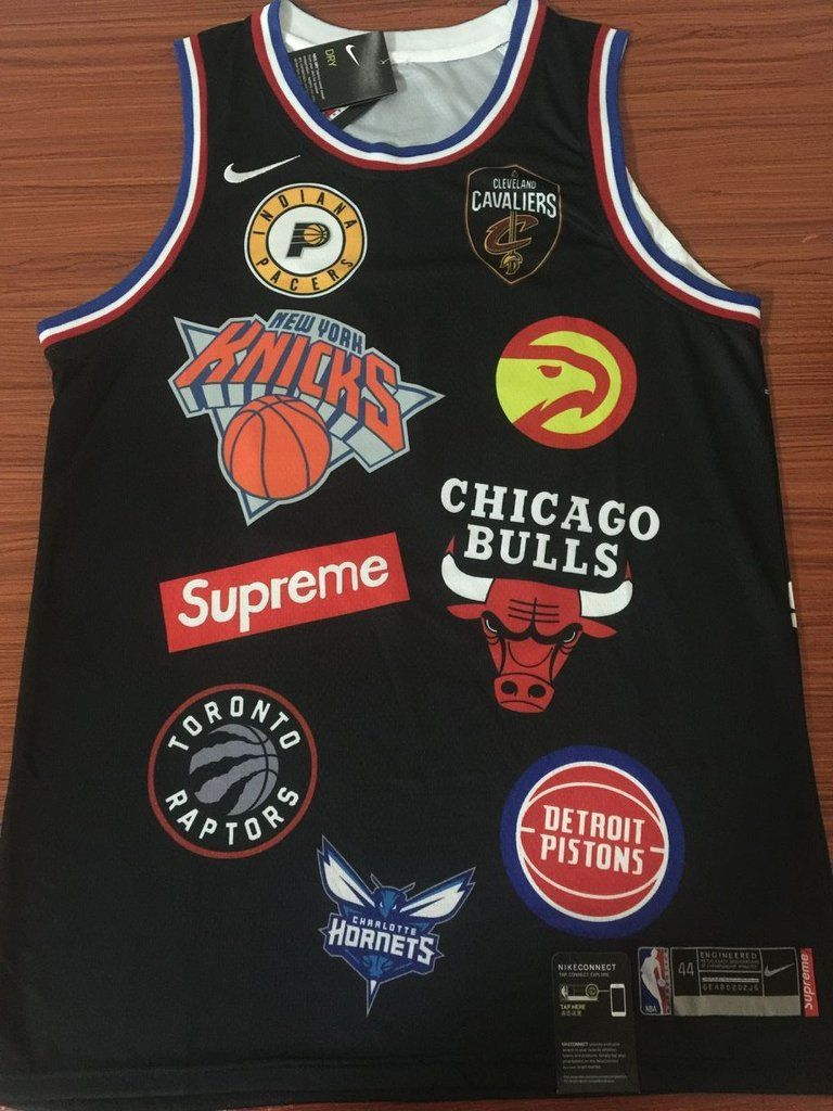 e133c5fd7 94 SUPREME X NIKE Jersey NBA Jersey IN BLACK Jersey Player ...