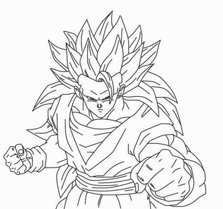 Dragon Ball Z Coloring Pages Online Coloriage Sangoku Coloriage Sangoku