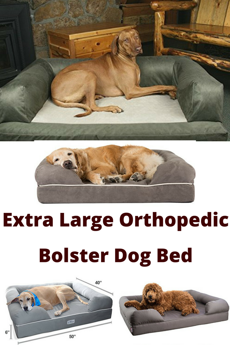 Extra Large Orthopedic Dog Beds With Bolster Sides Orthopedic Dog Bed Dog Bed Bolster Dog Bed