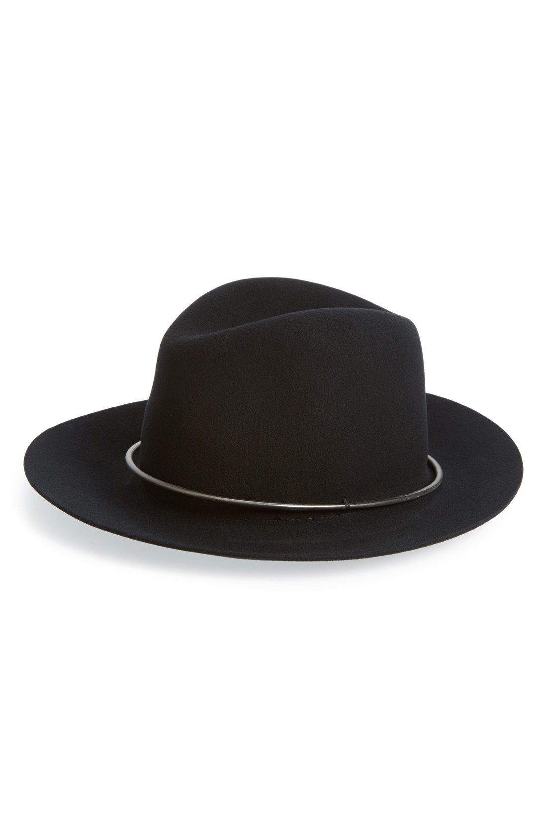 Janessa Leone 'Onyx' Metal Band Wool Hat available at #Nordstrom