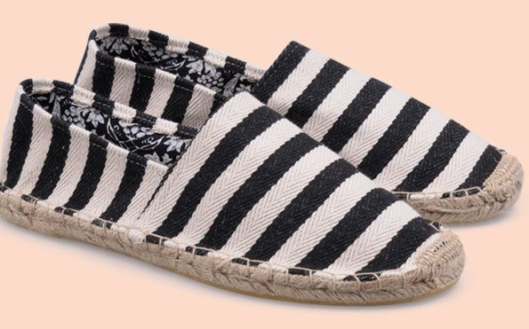 TOMS Women Stripes Rope Sole Black