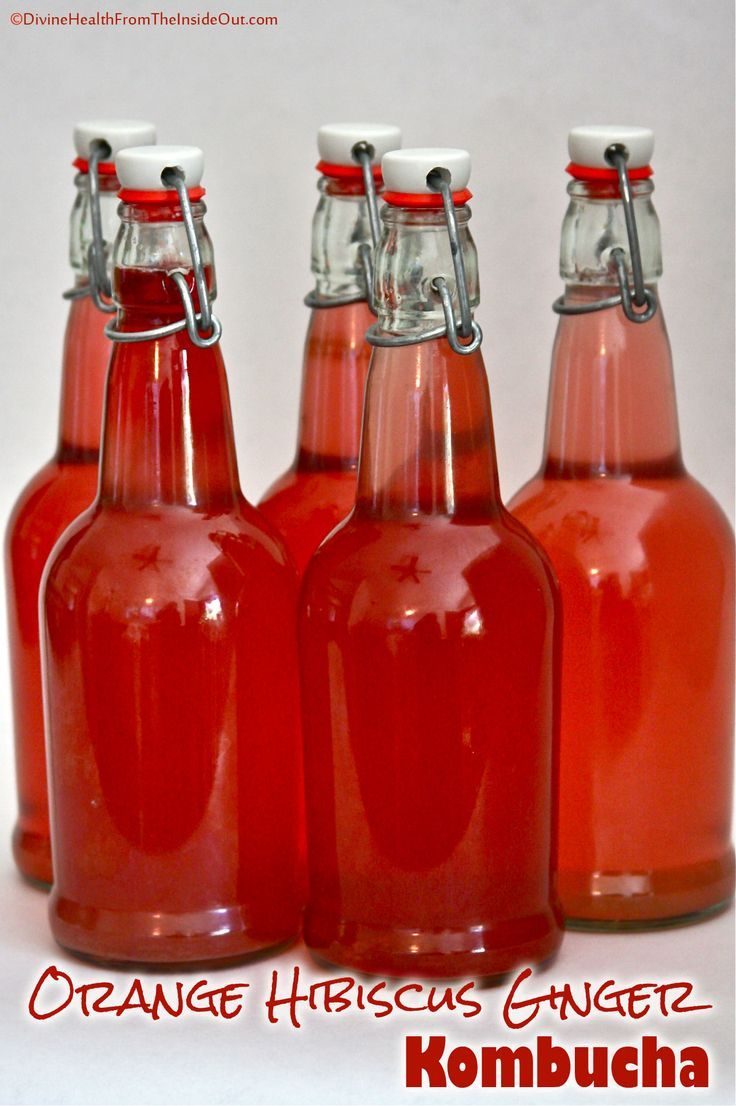 Orange Hibiscus Ginger Kombucha
