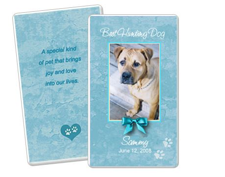 Teal Pet Memorial Flat Card Template Edit In Microsoft Word