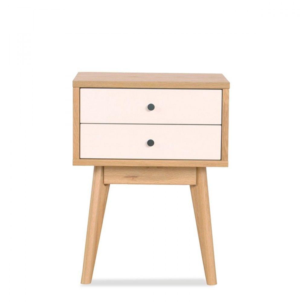 Meuble de rangement design scandinave 2 tiroirs Skoll blanc | Petit meuble rangement, Meuble ...