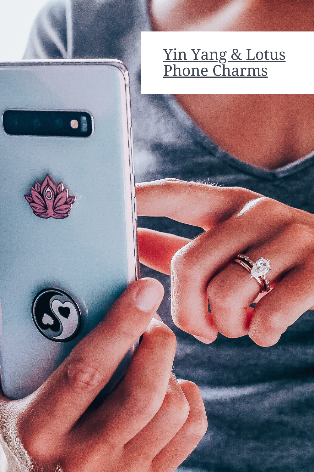 Spiritual Charms 2 in 1 Yin Yang /& Lotus Yoga Harmony /& Peace Metal Stickers 1 x 1 Namaste Laptops /& Notebooks Show Balance and Tranquility Easy to Stick on and Peel Off Usable On All Phones