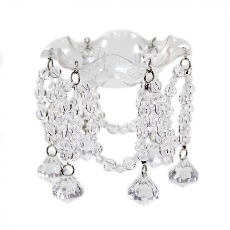 Bobeche Candle Ring - Clear Acrylic Crystal Diamond BEST SELLER ...