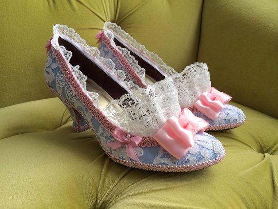 8a869ba157670 Marie Antoinette Costume Shoes Heels Rococo Baroque Fantasy Pumps ...