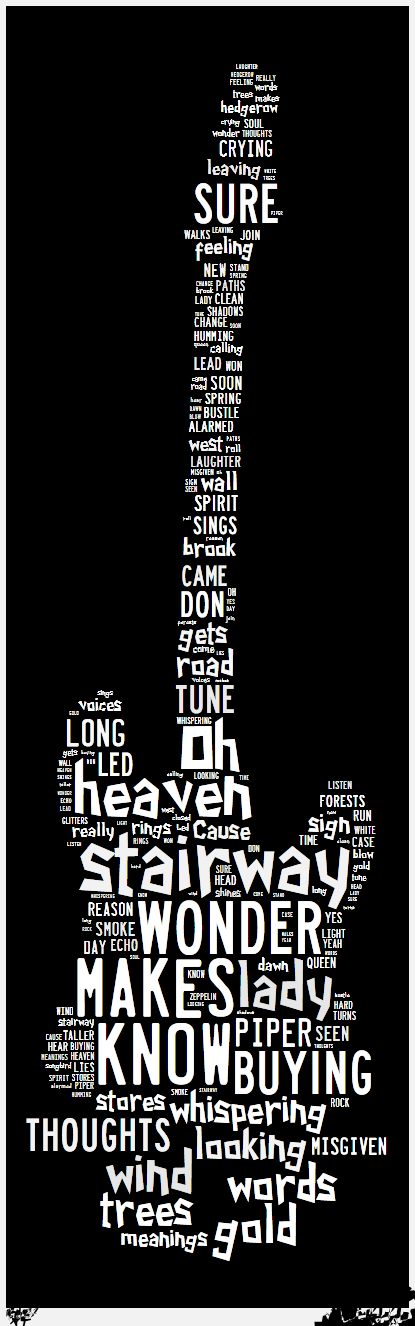 The best of rock nroll with led zeppelin 70s years lyrics classic heavy metal rock music poster ☮ღ✿⊱ レ o √ 乇