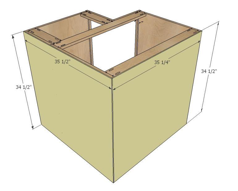 Ana White Build A 36 Quot Corner Base Easy Reach Kitchen