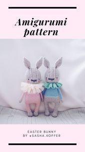 bunny rabbit rabbit liebre conejo easter Easter pascua amigurumi toys free patte...