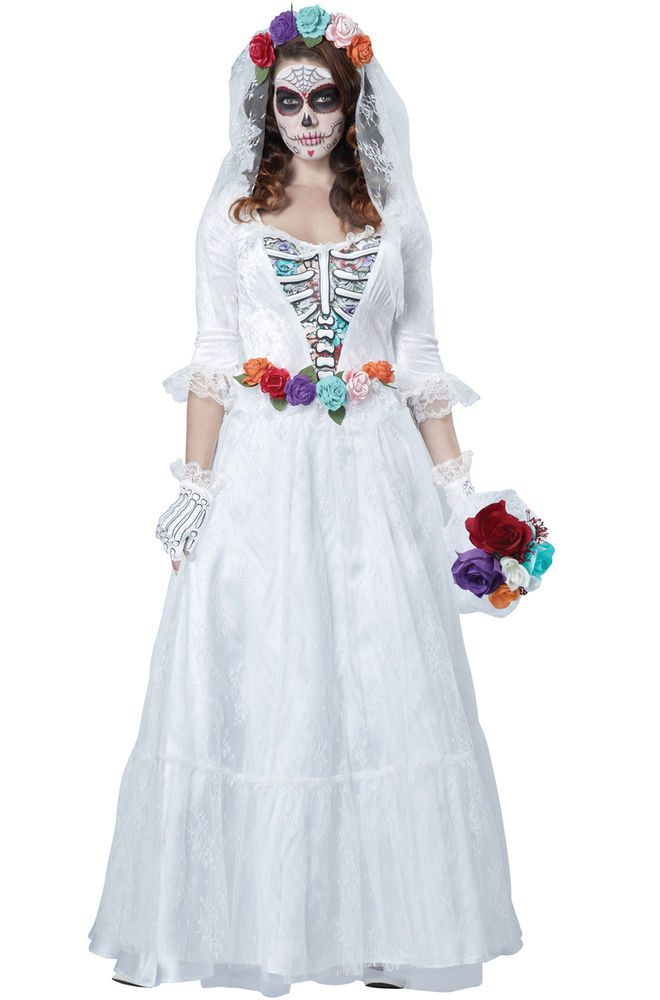 Photo of Brand New Horror Wedding Dress Bride Ghost Day of the Dead W…