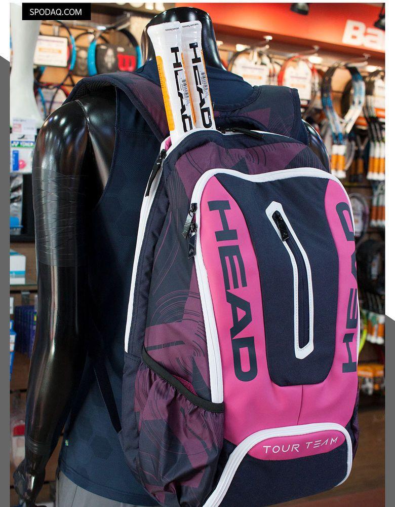 Head Tour Team Backpack Bag Tennis Badminton Sports Pink Black Racket Nwt 283477 Tennis Racquet Bag Pink Tennis Bag Racquet Bag