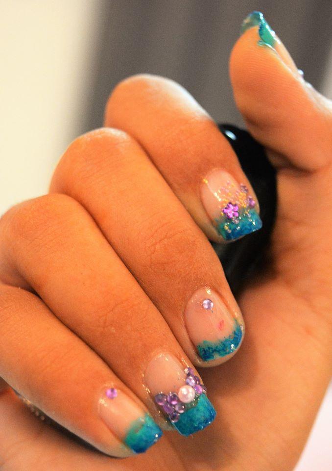 60 Stylish Blue Nail Art Design Ideas | Blue nails, White nail ...