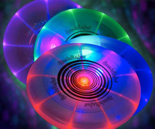 Light Up Frisbee  Blaze up the night skies by playing a radical game with the light up frisbee. This luminescent flying disk whizzes through the air while creating amazing effects with the array of neon colors strewn all along the surface.  $19.16  Check It Out  Awesome Sht You Can Buy
