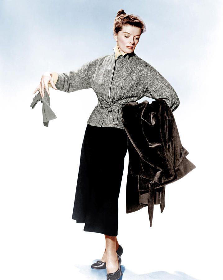 "AndrewAndJoshua: Katharine Hepburn In Costume For ""Desk Set"""