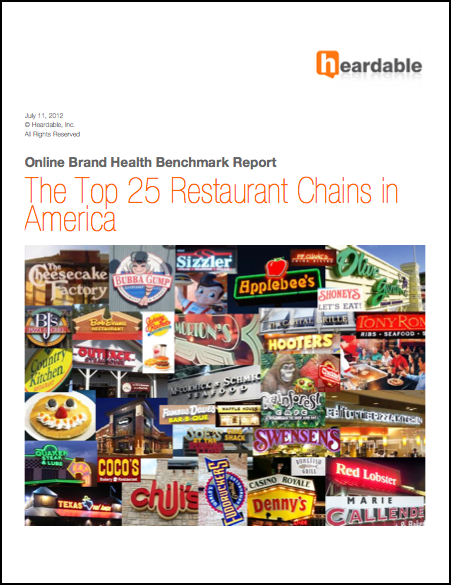 The Top 25 Restaurant Chains in America Published: July 12, 2012 Length: 264 pages, 100+ charts Author: Jon Samsel