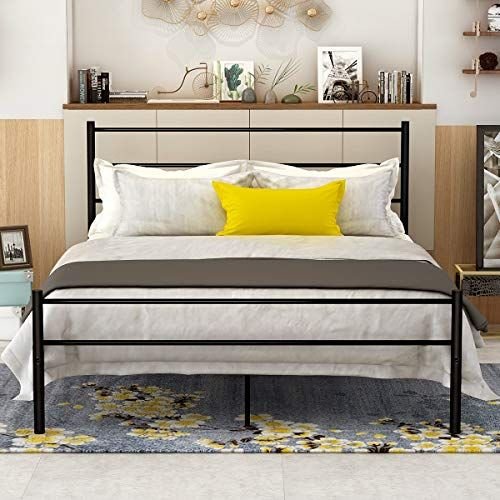 Best Dumee Queen Size Metal Bed Frame With Headboard And 400 x 300
