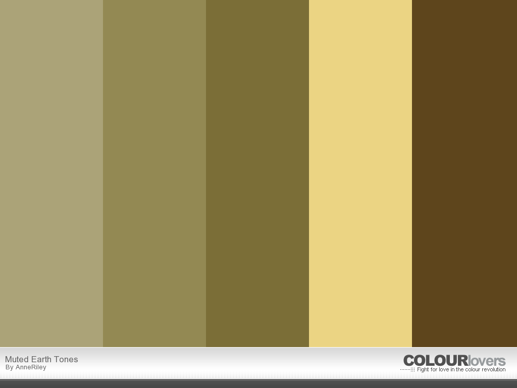 Lovely Earth Tones Color Scheme #1   Earth Tone Colors Design