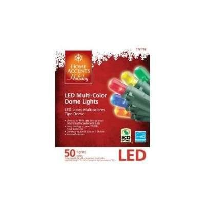 LED Multi-color Indoor/Outdoor Christmas Lights-50 bulbs and 164ft