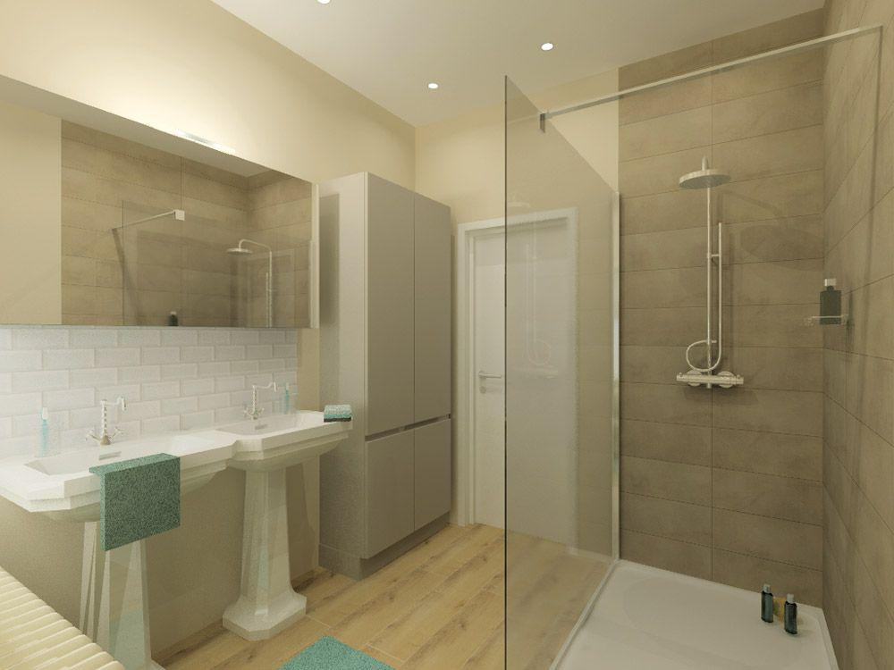 landelijke badkamer met inloopdouche - Google zoeken | Badkamer ...