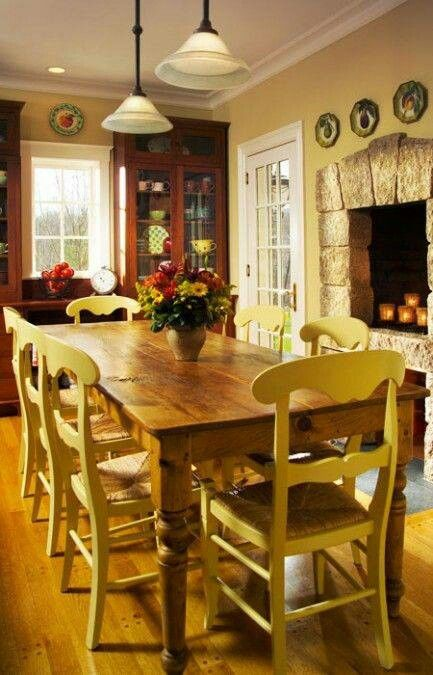 Pin by Cynthia Dicintio on Dine in Style | Pinterest Ideas For Country Kitchens With Fire Places on kitchen dinning room ideas, kitchen island sink ideas, kitchen sitting area ideas,