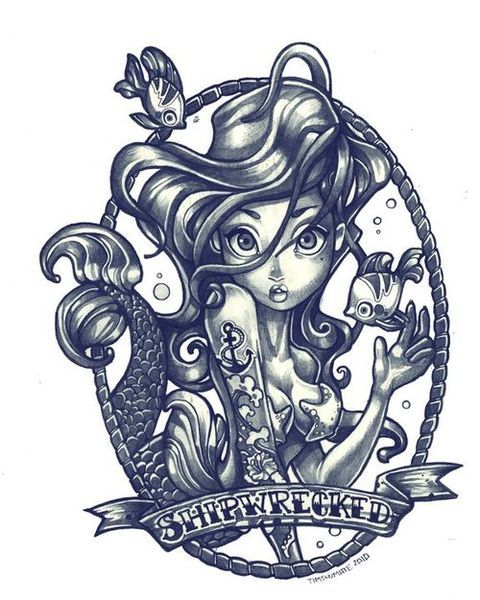 cute illustration for tattoo