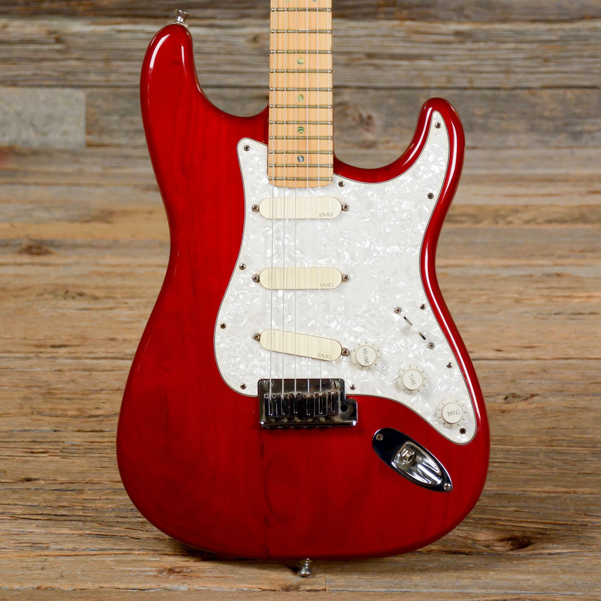 Fender American Deluxe Stratocaster Red 1998 (s244)