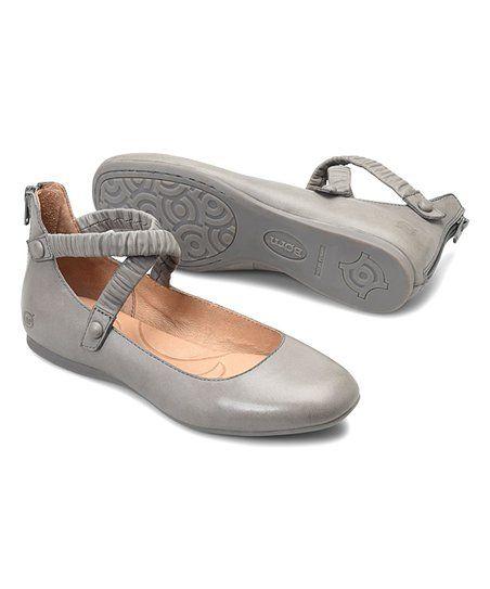 Børn Gray Leif Leather Flat - Women  caf7cb28841