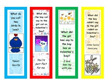 Valentine S Day Joke Riddle Bookmarks Valentines Day