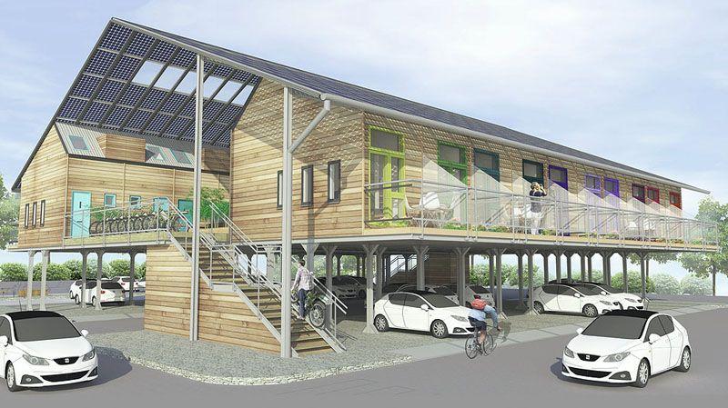 ZEDpod A Prefab Design That Transforms Car Parks Into Housing Developments