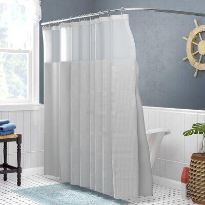 Andover Mills Nala Waffle 2 Piece Shower Curtain Set Shower